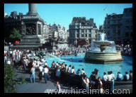 Limo Hire London to Trafalgar Square